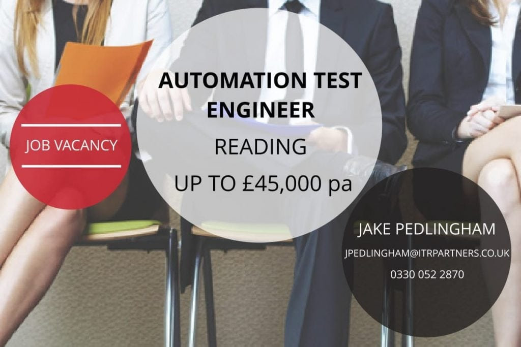 Automation Test Engineer, Reading