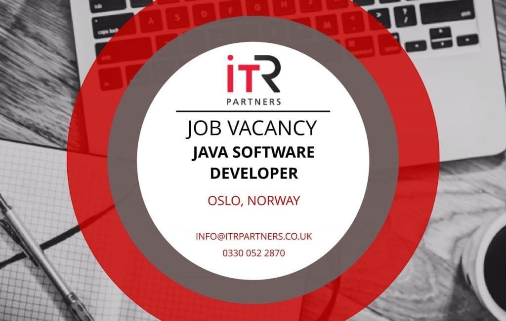 Java Software Developer, Oslo Norway