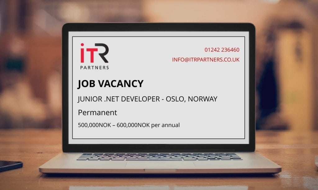 Junior .NET Developer, Oslo Norway