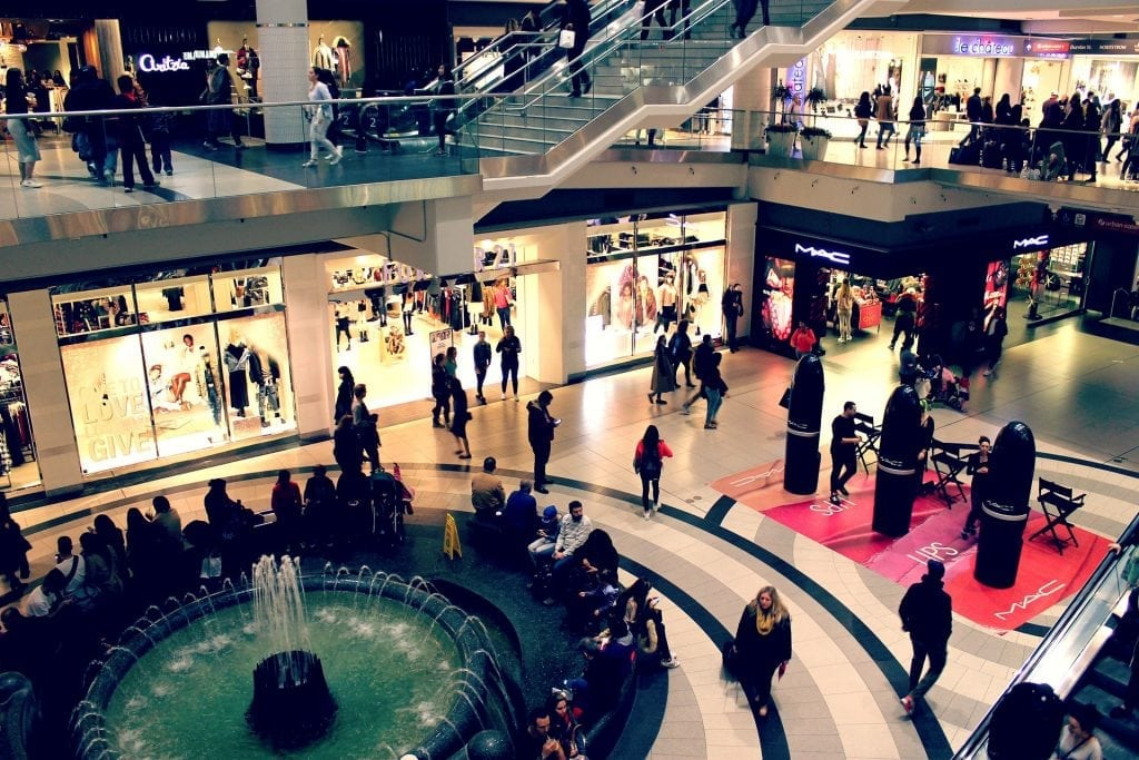 Connected shopping malls to compete with online shopping